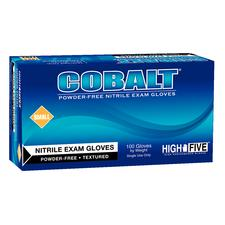 COBALT Nitrile Exam Gloves - Blue Exam Gloves, 100/:Box - Large