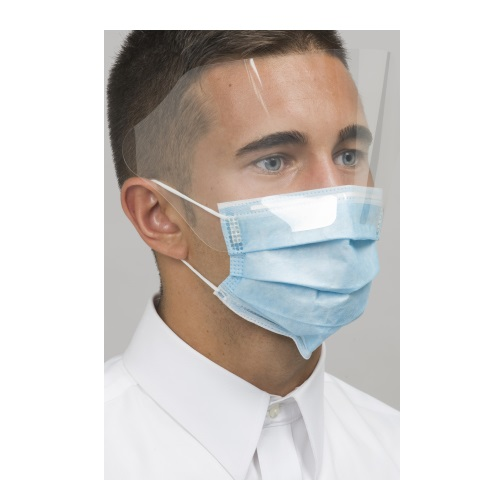 DEFEND Level 3 Dual Fit Ear-Loop Face Masks (Pleated) w/ Shield