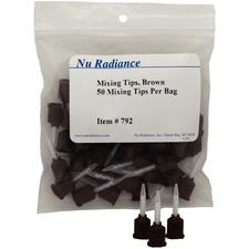 Nu TempCement NE Mixing Tips Brown, 25/:Pkg