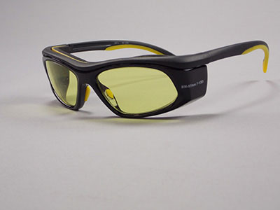 3589YG : Laser Eyewear Black/Yellow Frames with Yellow/Green Lens