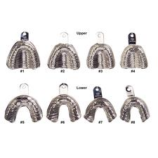 Patterson Metal Impression Trays Set 103 Perforated Edentulous, 4 Upper and 4 Lower