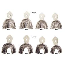 Patterson Metal Impression Trays Set 108 Perforated Pedo, 4 Upper and 4 Lower