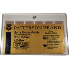 Patterson Gutta Percha Points - Auxiliary Sizes, 120/:Pkg - Extra Fine