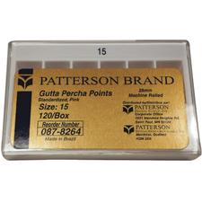 Patterson Gutta Percha Points - Standard Sizes, 120/:Pkg - Standard - #15