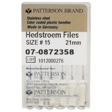 Patterson Hedstrom Files - 21 mm, 0.02 Taper, 6/:Pkg - Assorted Colors Sizes 45-110