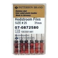 Patterson Hedstrom Files - 31 mm, 0.02 Taper, 6/:Pkg - Assorted Colors Sizes 15-40