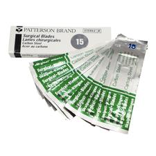 Patterson® Surgical Blades - Sterile, Carbon Steel, 10/:Box - 12