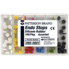 Patterson Endo Stops - Silicone Rubber, Assorted Colors, 100/:Pkg
