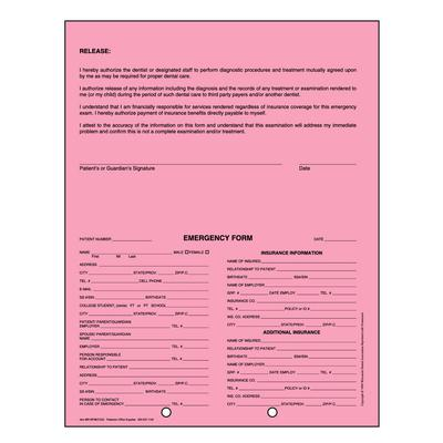 Dental Emergency File System - Form