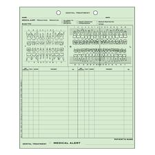 Easy-View Charting System, 100/:Pkg - Dental Medical/:Dental History