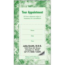 Sticker Appointment Card, 500/:Pkg - 3-D Tooth, 3-1/:2