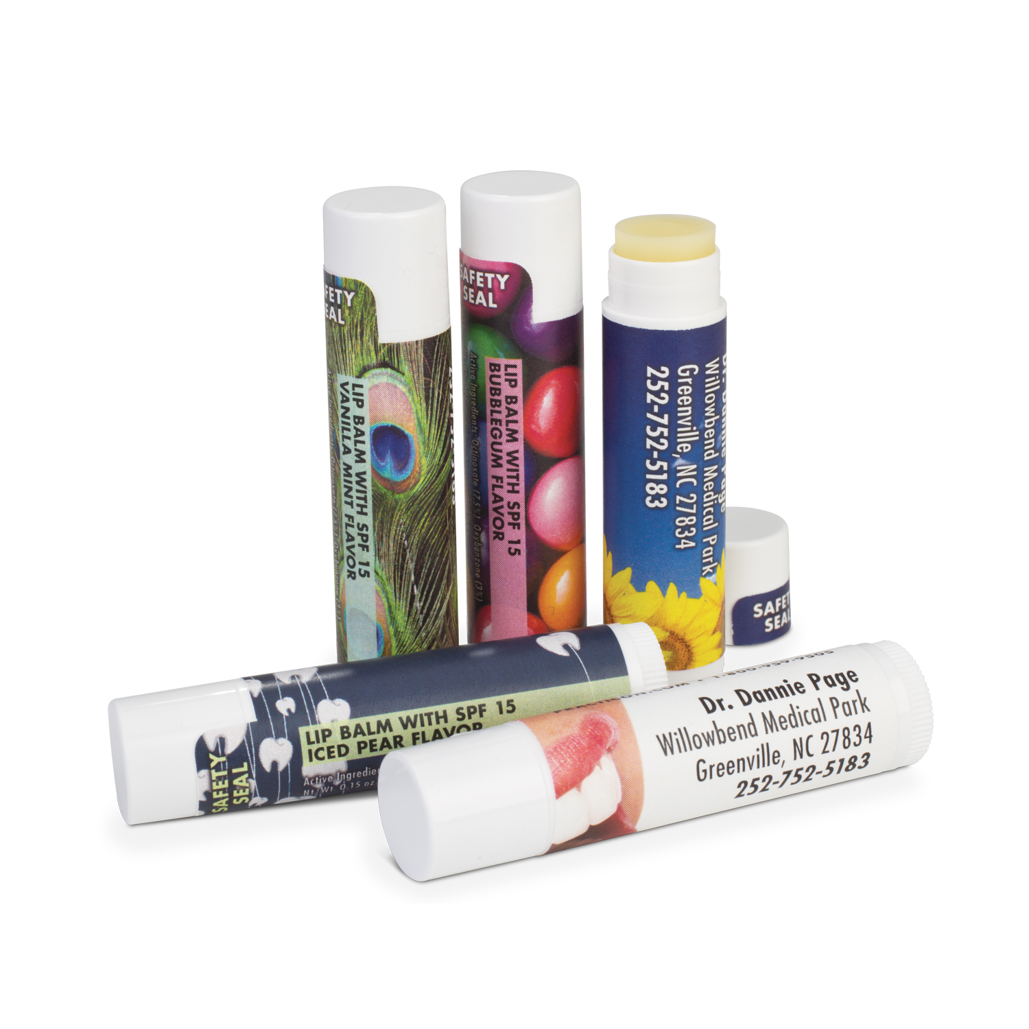Practicon Personalized Lip Balms