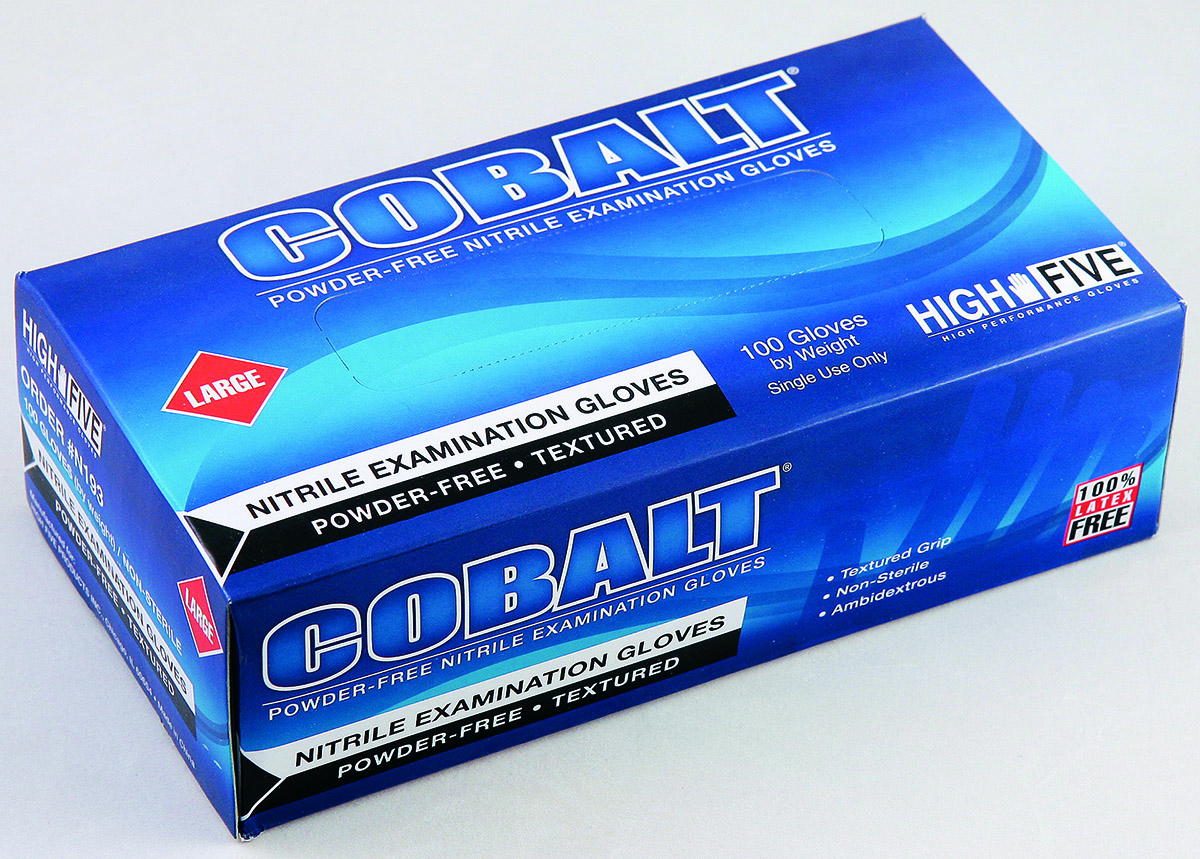 Cobalt Blue Nitrile Gloves
