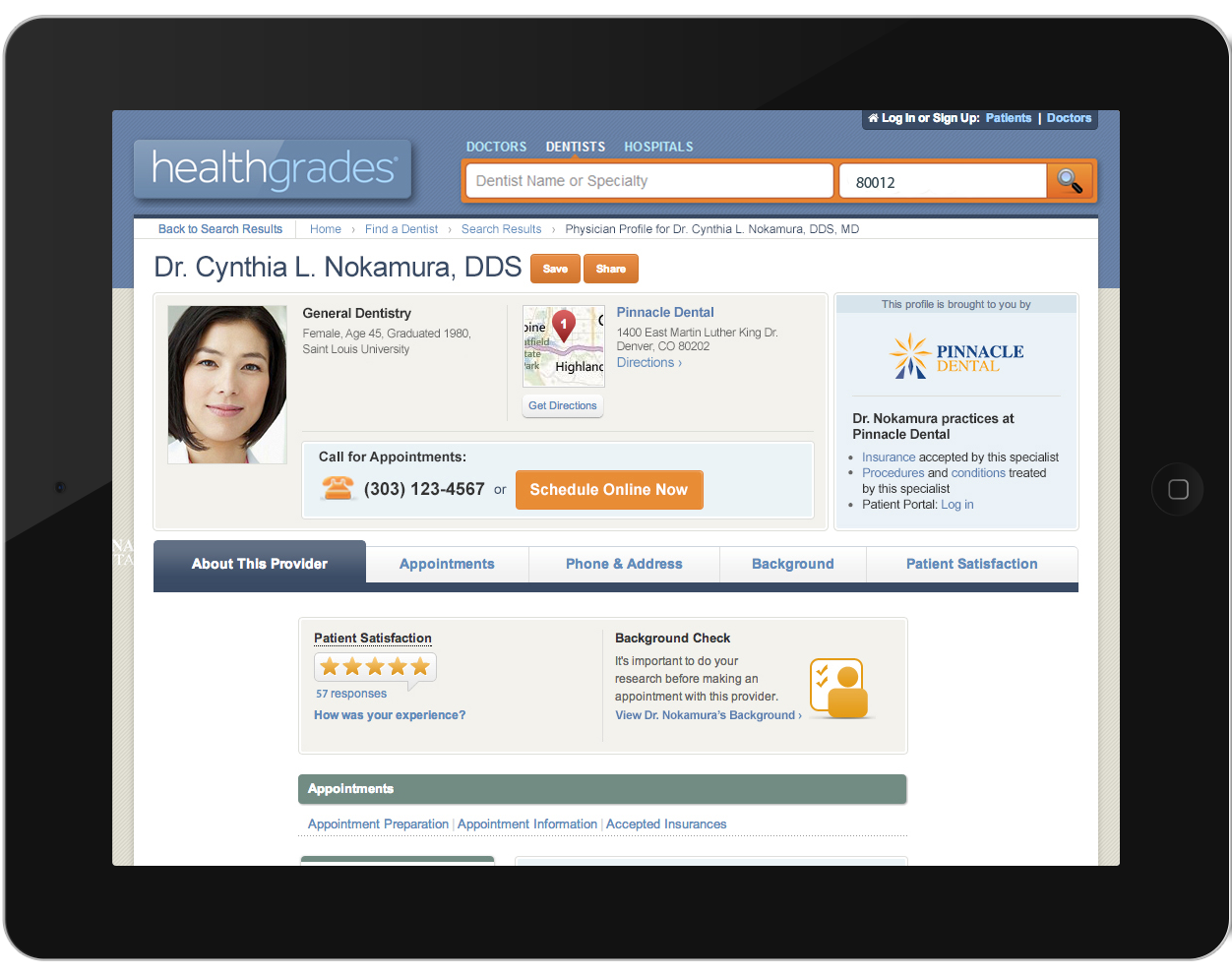 Healthgrades Enhanced Profiles from Sesame