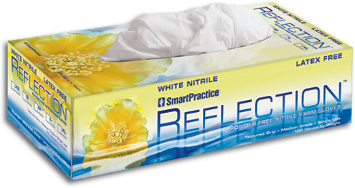Reflection White Nitrile Exam Gloves