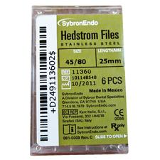 Hedstrom Files - Plastic Handle, Stainless Steel, 25 mm, 6/:Pkg
