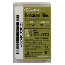 Hedstrom Files - Plastic Handle, Stainless Steel, 30 mm, 6/:Pkg