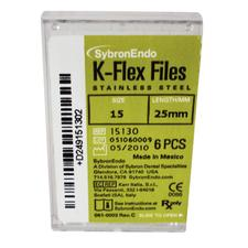 K-Flex Files Color Coded Plastic Handle - Length 25 mm, 6/:Pkg - Assorted Colors, Sizes 45-80