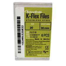 K-Flex Files Color Coded Plastic Handle - Length 30 mm, 6/:Pkg - Assorted Colors, Sizes 45-80