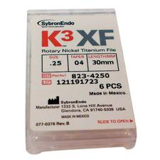 K3 XF Ni-Ti Files - 30 mm, 6/:Pkg - 0.15/:0.04